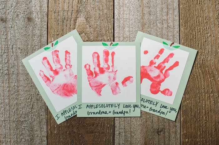 Apple Handprint Kids Craft | National Grandparents Day Gift Idea | Up North Parent