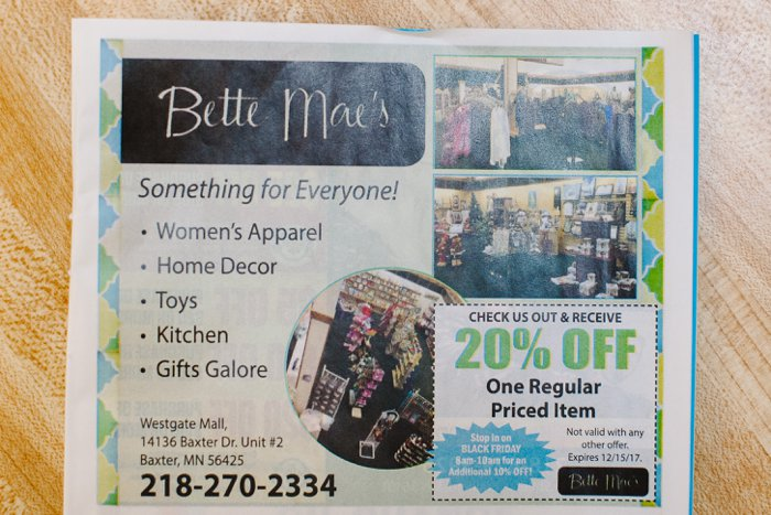 Bette Mae's | A Unique Spot in the Brainerd Westgate Mall, Brainerd, MN