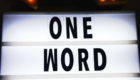 The One Word Movement - What is Your Word for 2018