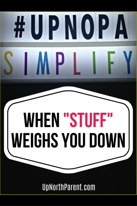When Stuff Weighs You Down   The Simplicity Project