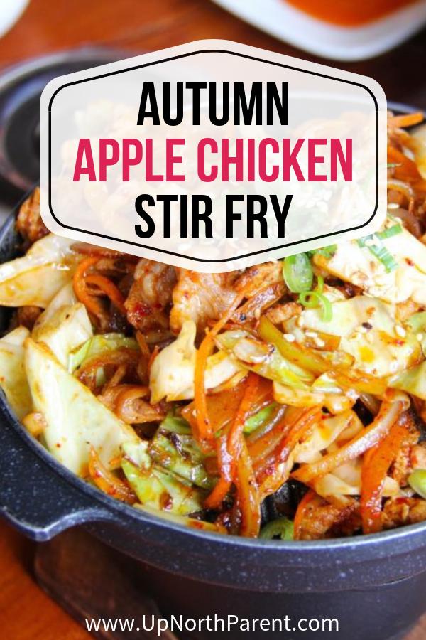 Autumn Apple Chicken Stir Fry (+ some Apple Health Benefit Facts!)