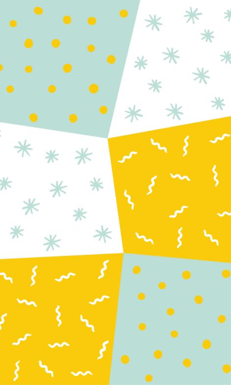 Green, Yellow, White WHIMSY Wallpaper Photo