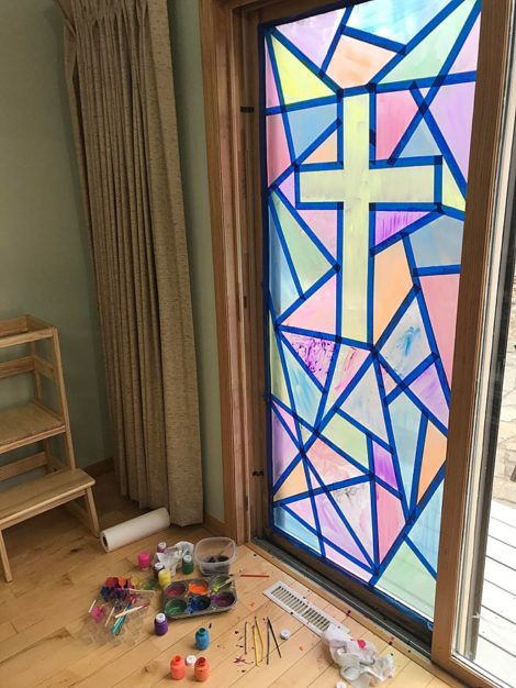 How to Make Easy Faux Stained Glass Doors and Windows