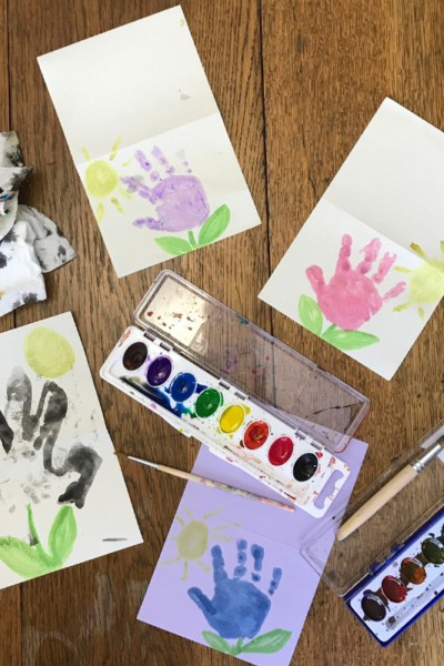 Easy Handprint Flower Cards for Kids | DIY Kids Handprint Crafts