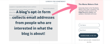 how to build an email list for your blog using opt ins from convertkit