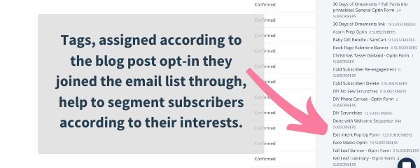 how to segment email lists with tags in convertkit, the best email list builder for bloggers